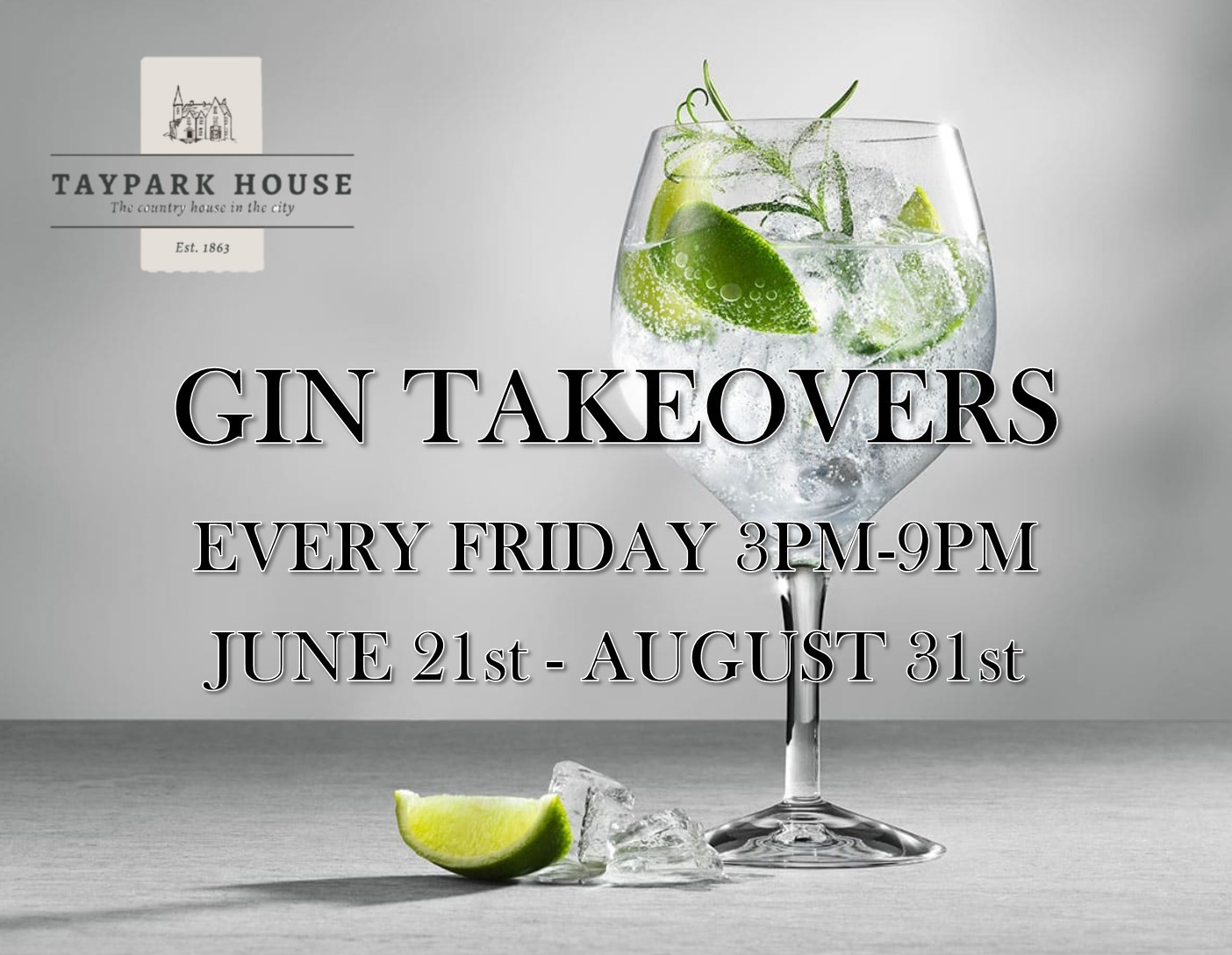 This summer we will be handing the keys of our outdoor Gin Bar over to some of our favourite Gin Companies. Each Friday the gin bar will be open from 3pm - 9pm.  Why not start your weekend in style and join us for some delicious G&T's or a bespoke cocktail in the summer sun. Tickets include one Gin & Tonic plus free samples of the suppliers product range. You will then be able to purchase additional drinks at your leisure.  Keep an eye out for which Gin Distillery is hosting each week.    Should the weather let us down, the event will go ahead in our in house Gin Bar.