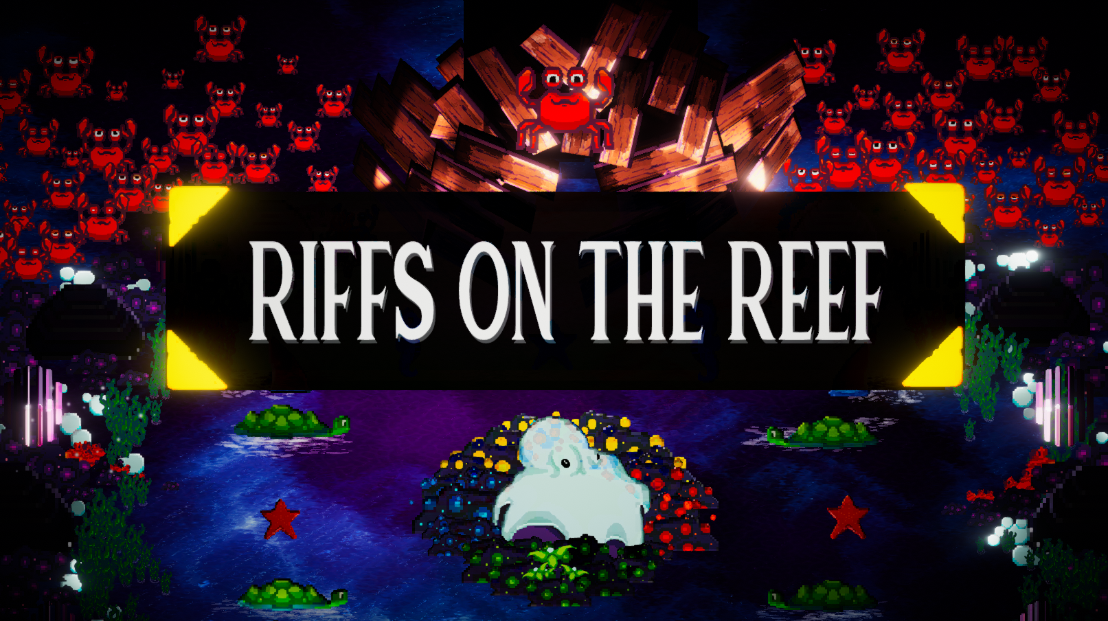 Riffs On The Reef   Squidmon Cowell's annual competition is here again! Perform to prove you're the one that can put the motion in the ocean and the wriggle in the reef! Make some waves with your tunes to earn the grand prize hidden within the Chest of Unforeseen Fortunes!
