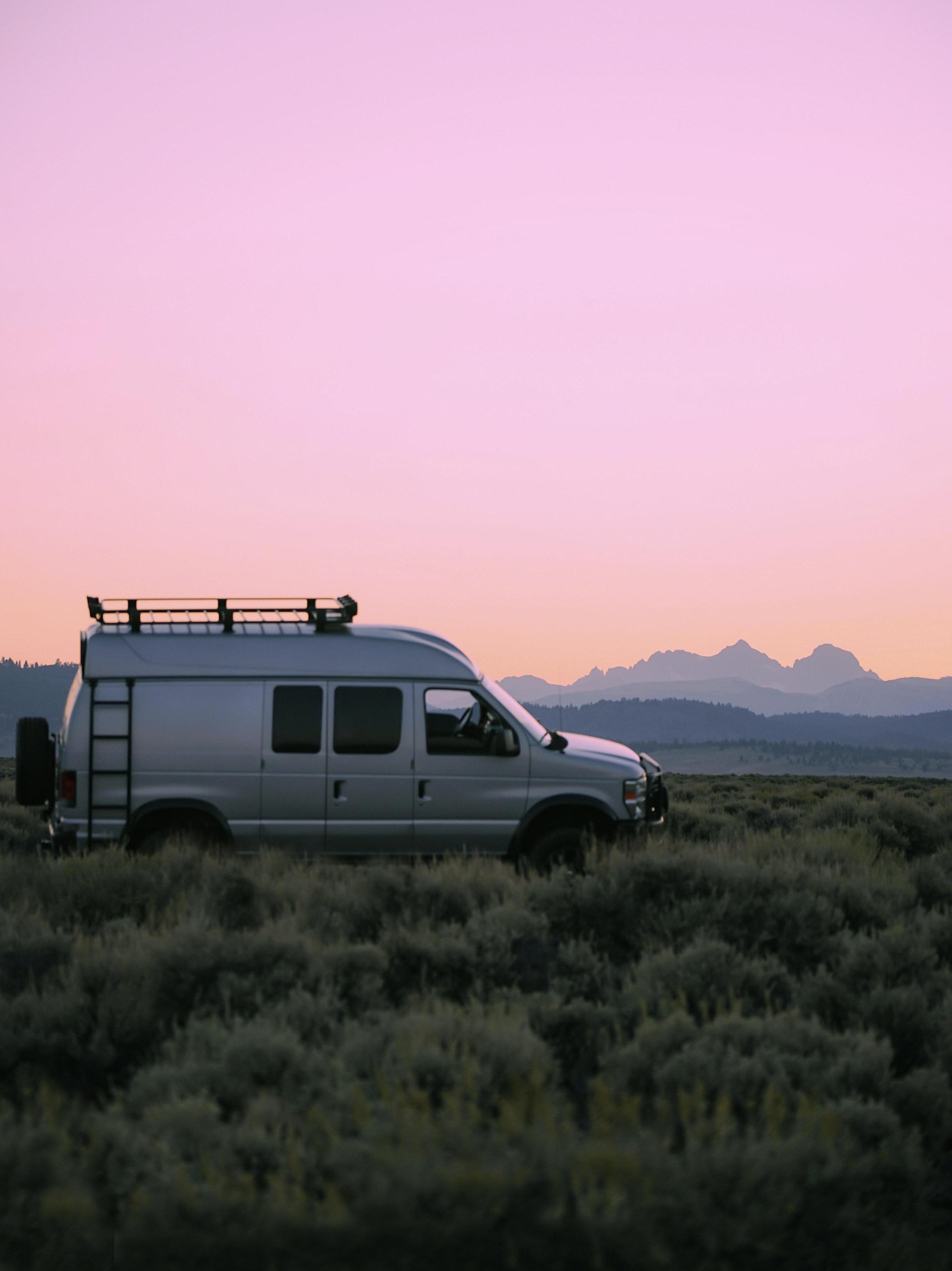 Summer sunset in the Sierra