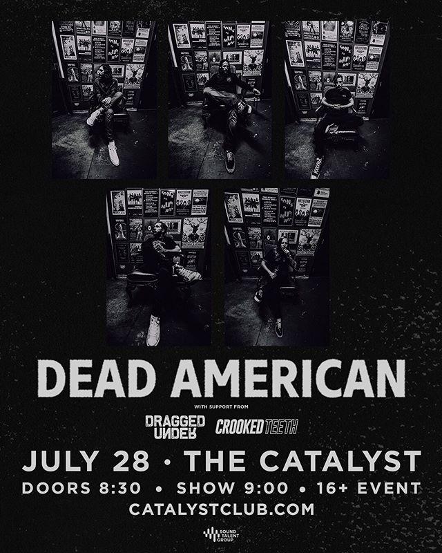 SANTA CRUZ! SUNDAY! W/ @deadamerican & @draggedunder