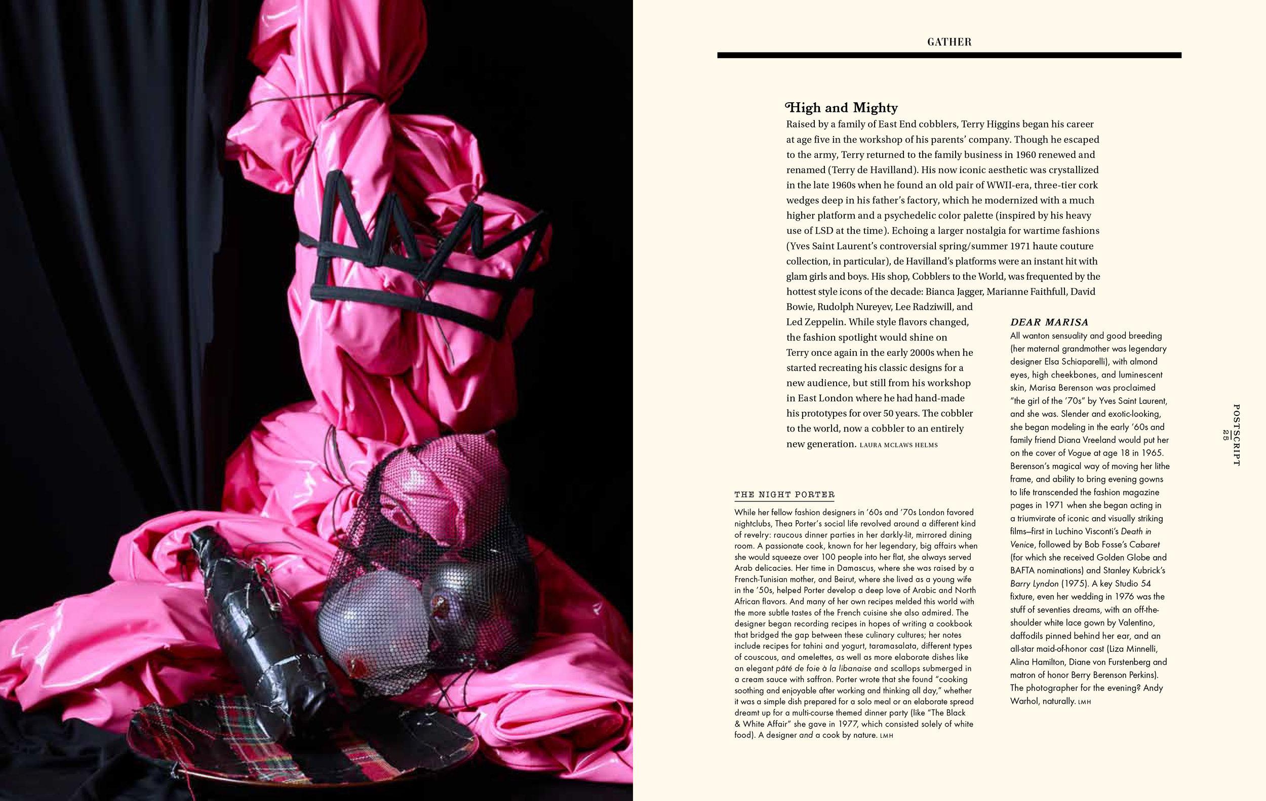 Gather Journal: Pieces on Thea Porter, Marisa Berenson and Terry de Havilland