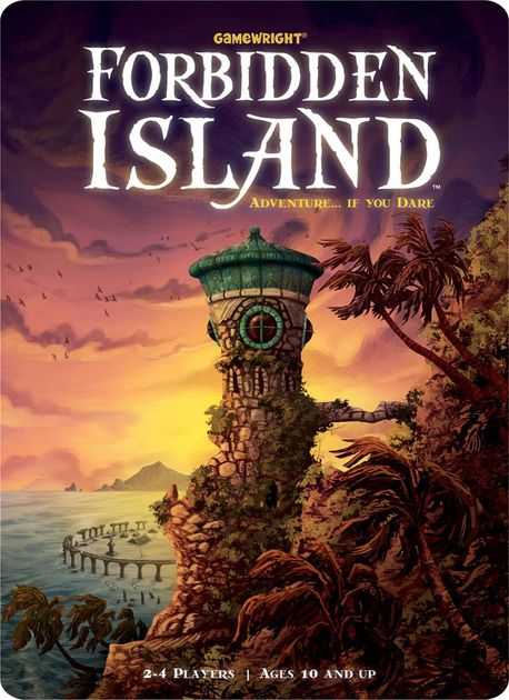 Forbidden Island - Search for treasure on a sinking island.2-4 players (Cooperative)click for details