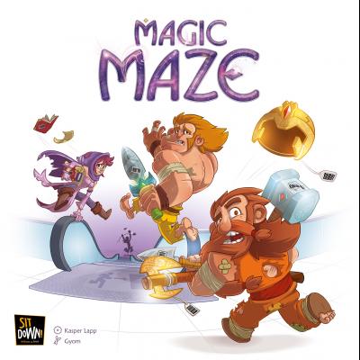 Magic Maze - Help a warrior, a wizard, a dwarf, and an elf pull off a heist.1-9 players