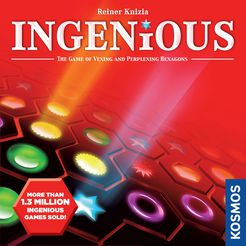 Ingenious - Take turns placing coloured tiles on a game board, scoring for each line of symbols.1-4 players