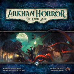Arkham Horror The Card Game - Solve eldritch mysteries and fight monstrous foes to save Arkham - and yourselves.1-2 players (Cooperative)