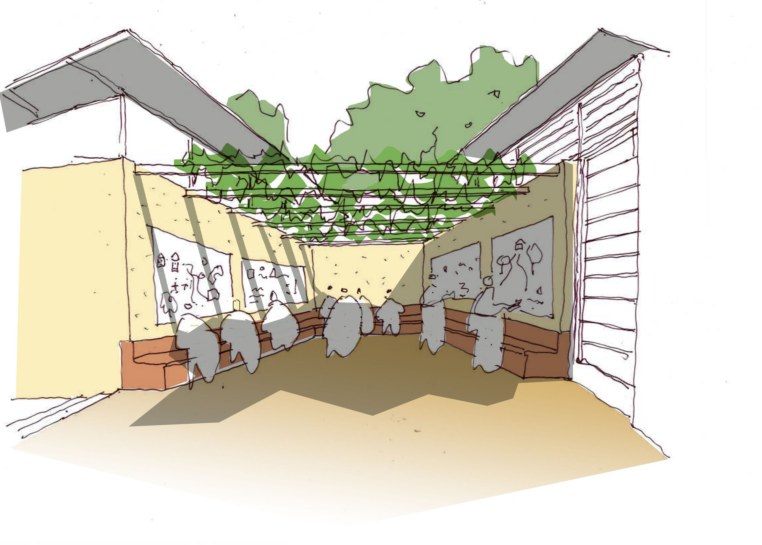 Sketch of canopy area
