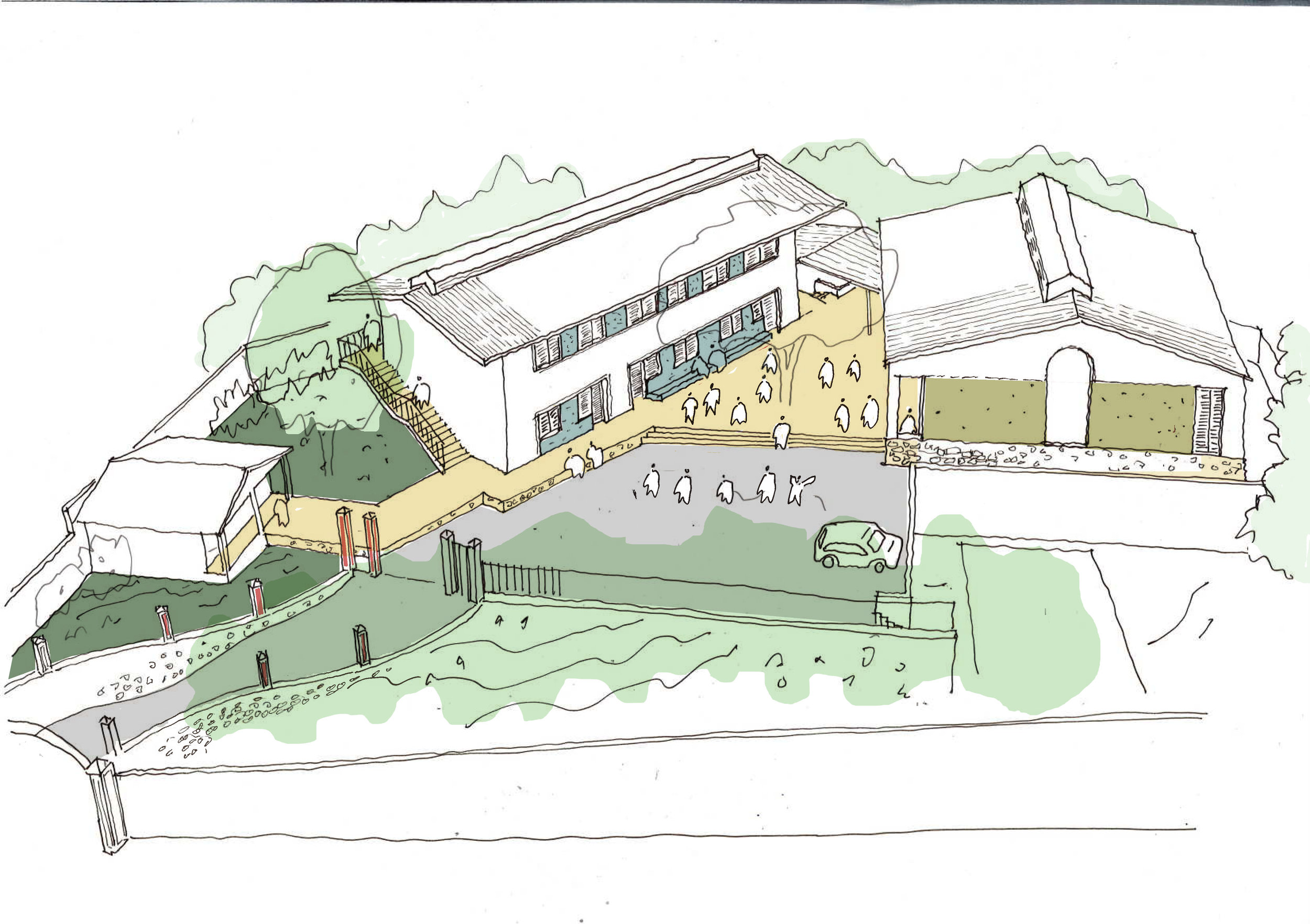 Sketch of proposed school site