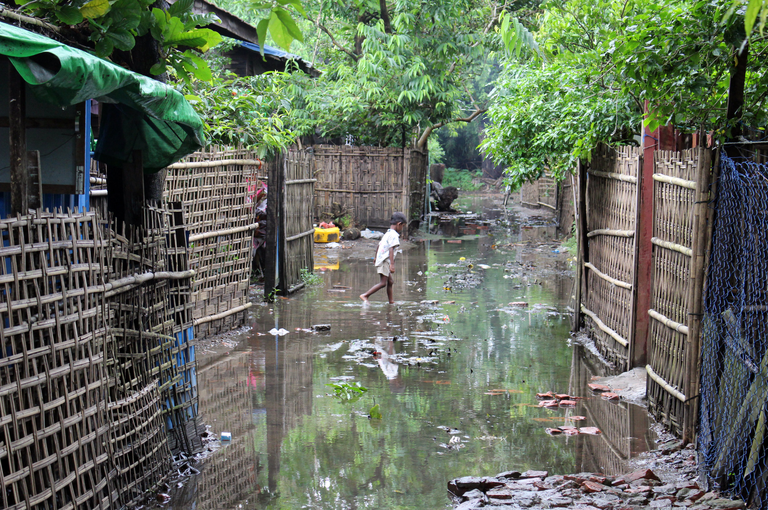 The staff quarters are susceptible to flooding during monsoon season
