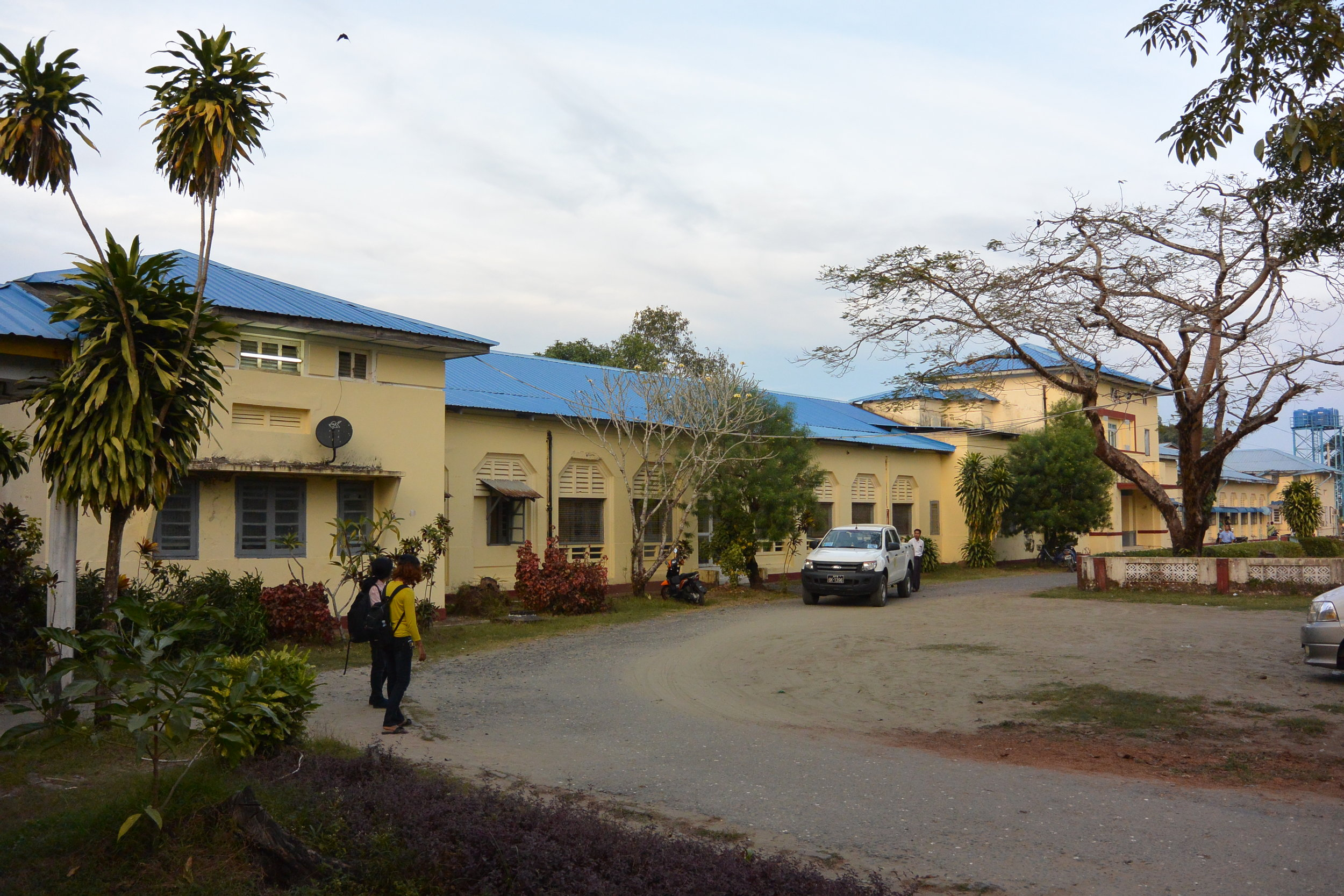Main entrance to the existing hospital