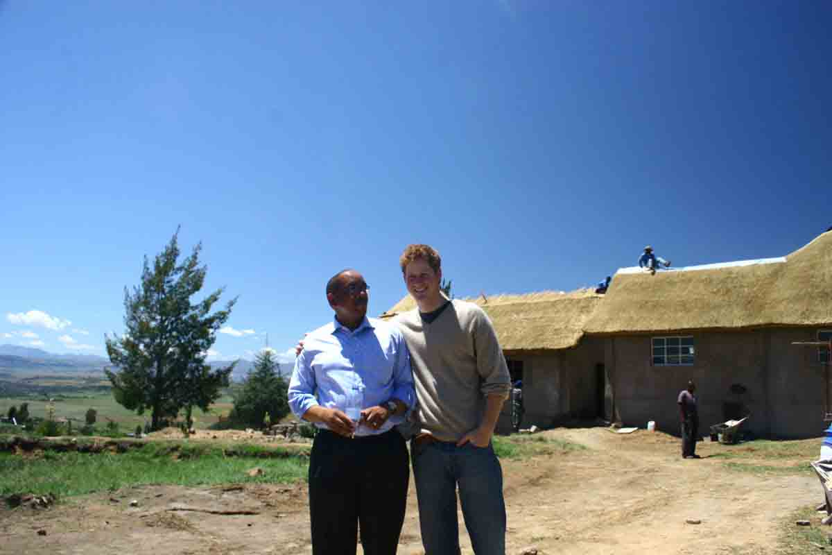 Prince Harry, co-founder of the NGO Sentebale on site