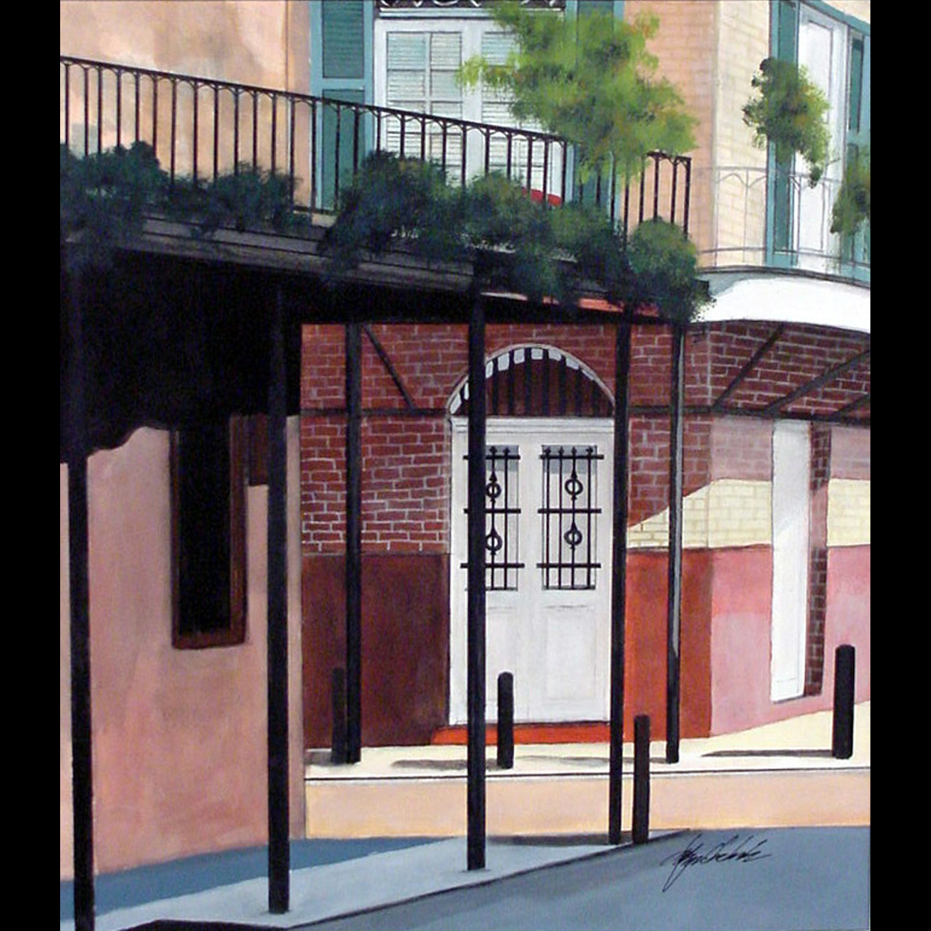 Early career painting of New Orleans