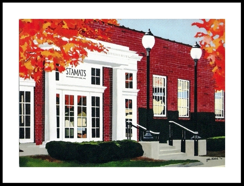 Stamats Communication, in Cedar Rapids, Iowa, commissioned me in 2012 to do this portrait of their classic home office building.