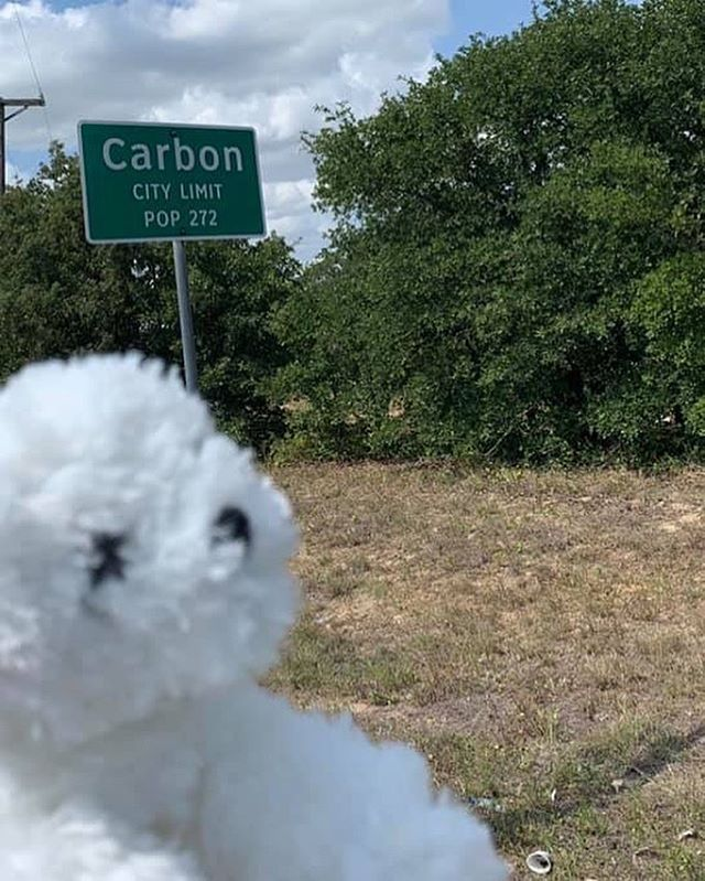 We just had to stop in Carbon, the key building block of life! 🤠🧪#pearlsroadtrip