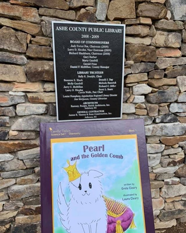 So happy Pearl's book is in the Ashe County library in North Carolina!! 📚