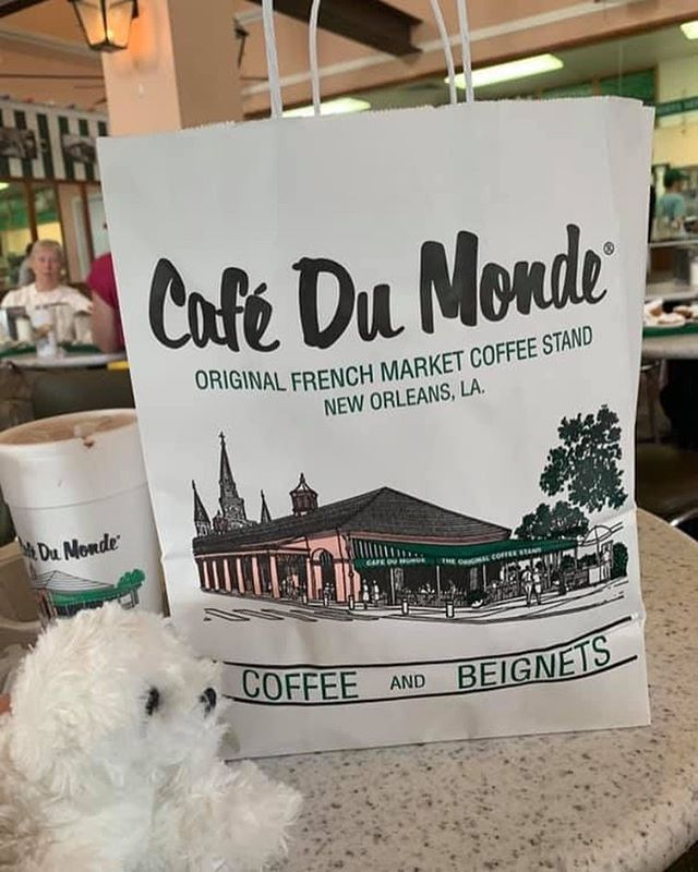 A must-stop when visiting New Orleans! 💜☕️ #pearlsroadtrip