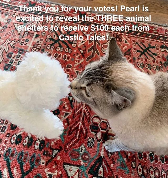 """Thank you to everyone who voted! Together we can make a difference! The shelters that will EACH receive $100 from the proceeds of """"Pearl the Golden Comb"""" (Book 1 of the Castle Tales series) are: - Tiny Hooves Rescue and Petting Zoo in Temple, TX - LARAS House Shelter in Mexia, TX - Bastrop County Animal Services in Bastrop, TX!  We invite you to follow us for the latest Castle Tales news, giveaways, and special projects to make a difference!❤️🐾 #petslovepearl #animalshelter #sciencebook4kids"""