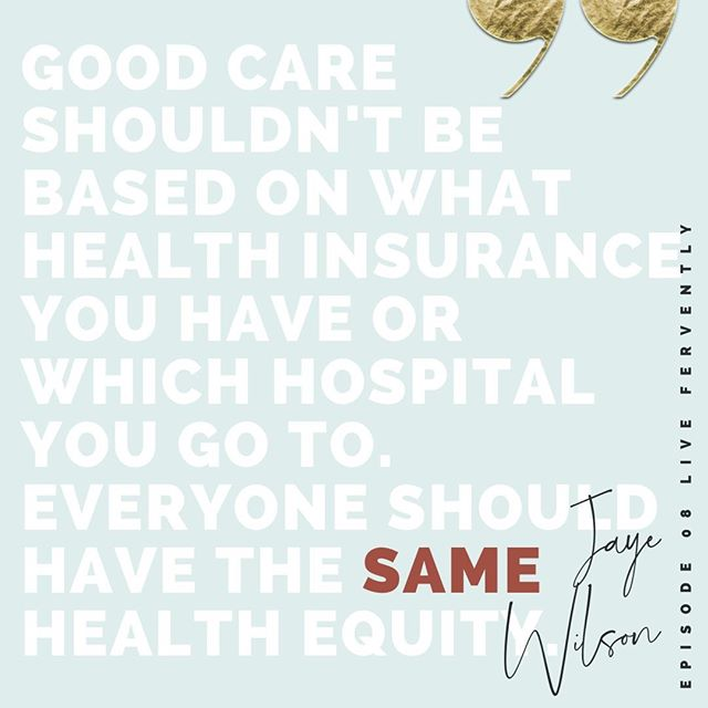 """Good care shouldn't be based on what health insurance you have or which hospital you go to. Everyone should have the same health equity,"" says Jaye Wilson, co-Founder of @MelinatedMoms. In the latest #LiveFervently (#linkinbio) learn more about Jaye's motherhood journey, activism and how we must advocate for #healthequity for ALL.⠀ ⠀ #wocpodcasts #maternalhealth #reproductivehealth #mompreneur #momlife #pregnancy #advocacy #womenshealth #dopeblackpodcasts #healthcare #doula #birthworker"