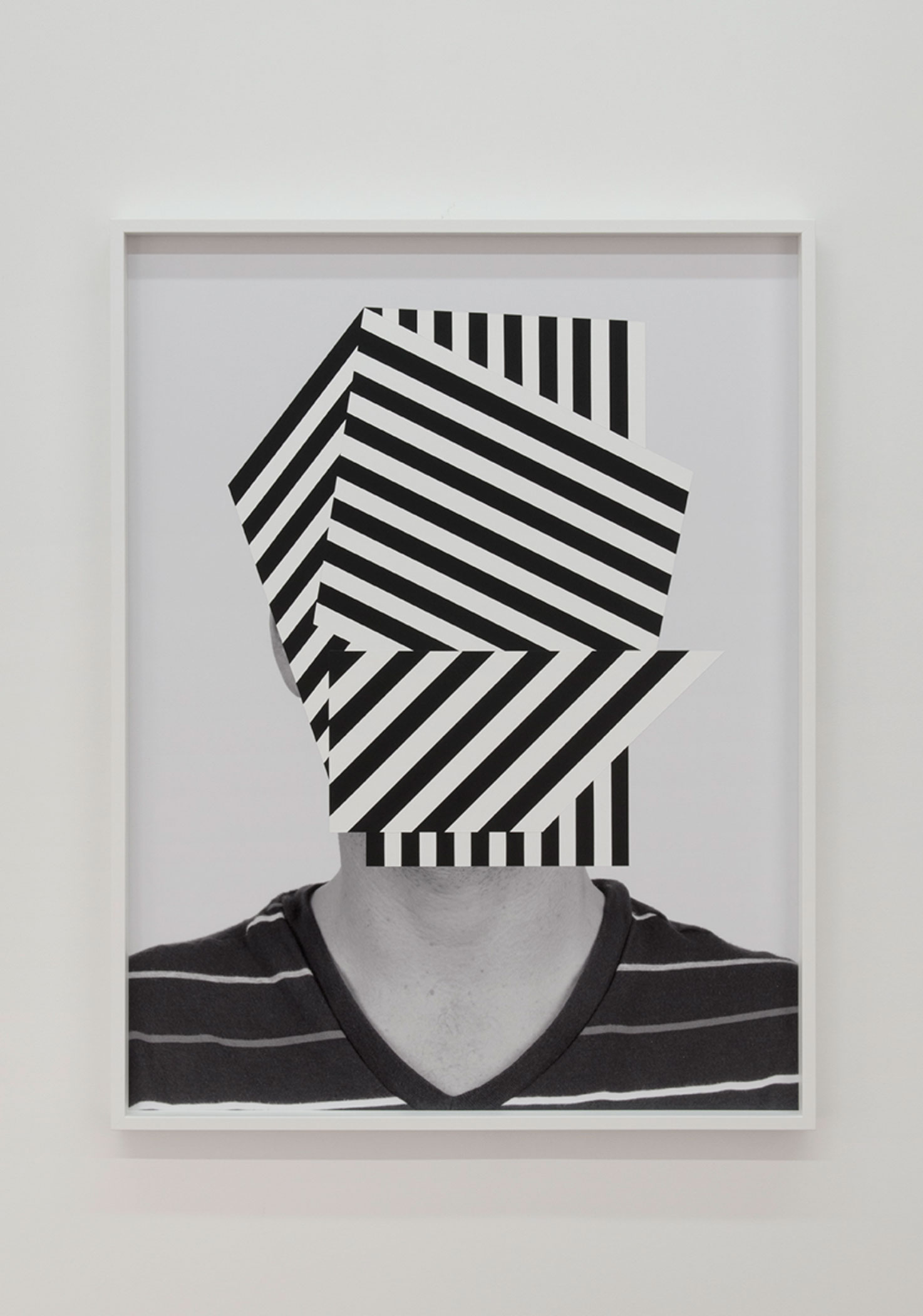 "War Boy , 2014. Acrylic on archival pigment print, 49"" x 37""."
