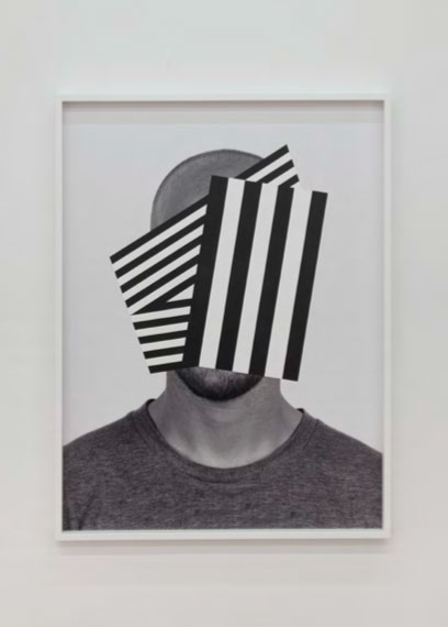 "War Boy,  2014. Acrylic on archival pigment print, 49"" x 37""."