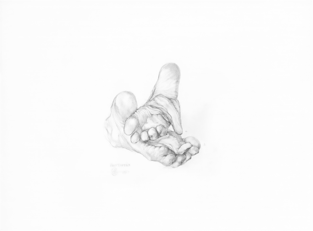 """Earth Taster , 2016,. Graphite on paper, 18' x 24"""""""