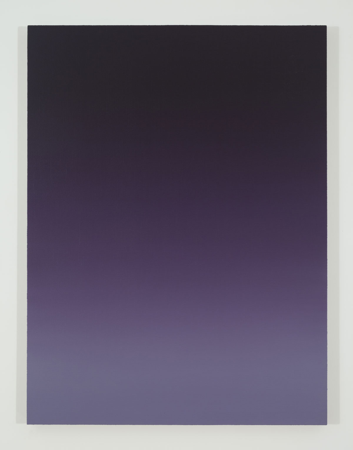 "Pierre Dorion,   Bichrome (Violet) , 2015, Oil on linen, 48"" x 36"""