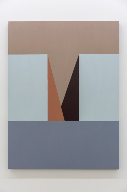 "Serena Beaulieu,   Untitled (M) , 2017-2018, Acrylic and oil on wood panel, 48"" x 36"""
