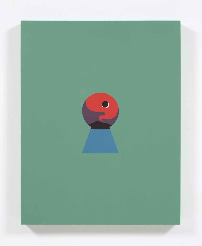 "So Close Yet So Far (nocturne) , 2018, Acrylic on canvas, 32"" x 25"""