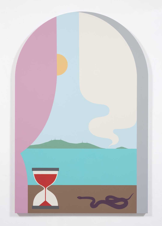 "Sun Seeker , 2018, Acrylic on canvas, 72"" x 47.5"""