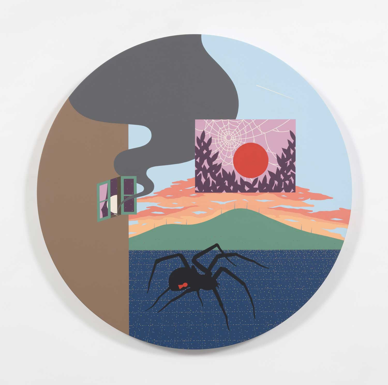 "Blinded by the Sun , 2018, Acrylic on canvas, 47"" x 47"""