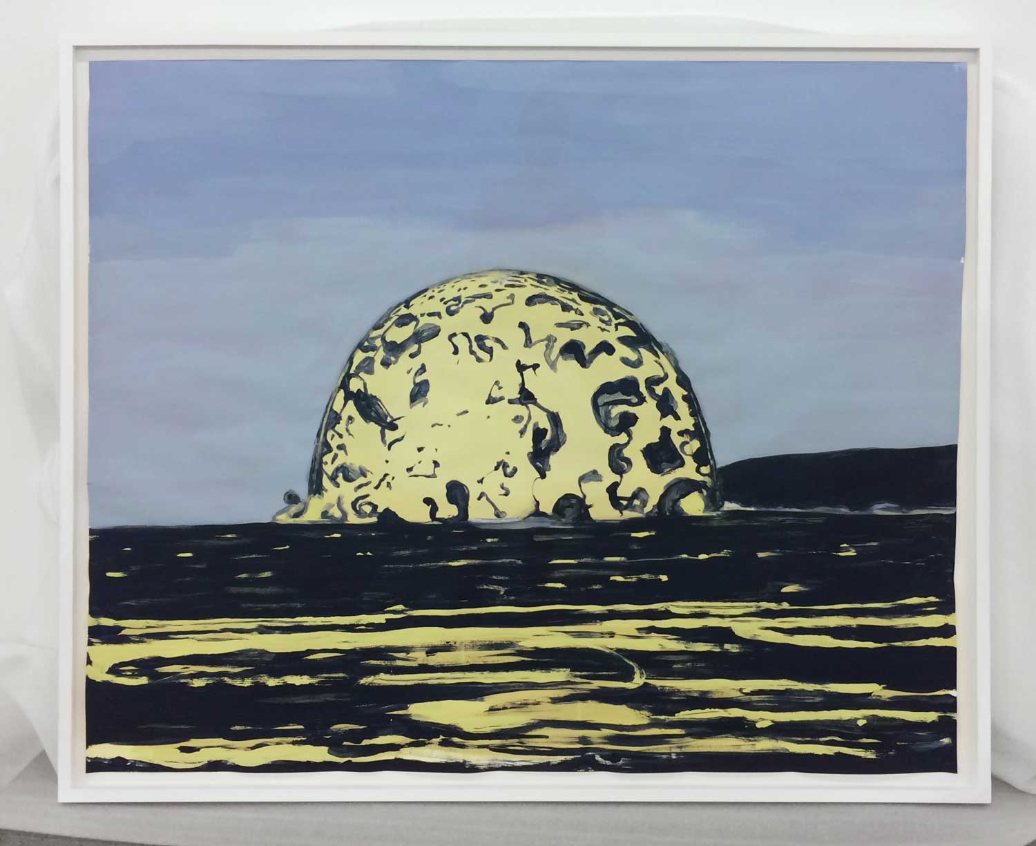 "Dome,  2019, Tempera on paper, 42"" x 50 ½"""