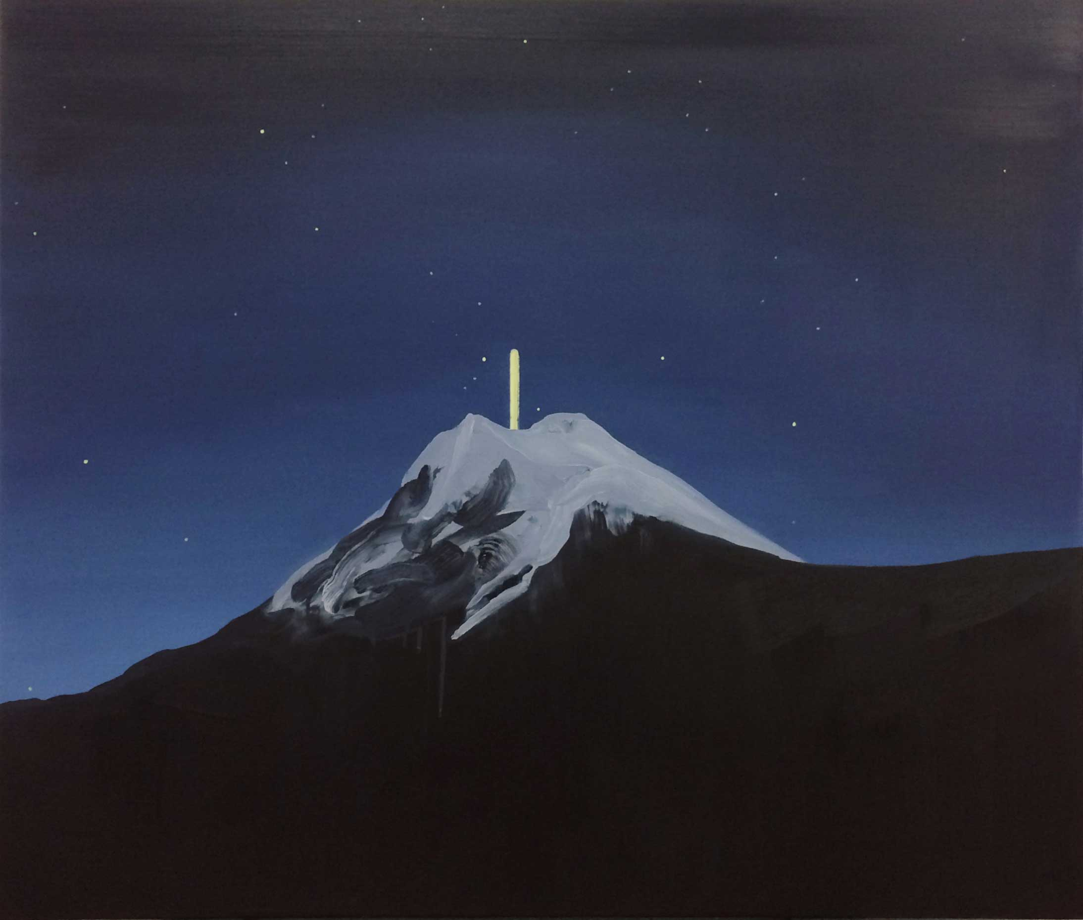 "UFO II , 2019, Oil on canvas, 56"" x 48"""