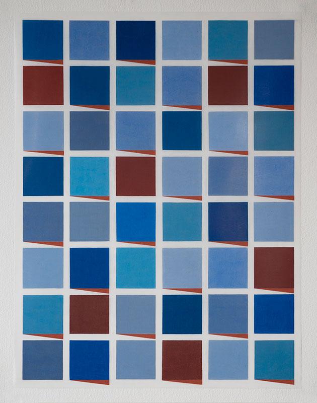 "Hansaviertel #1 , 2017-18, Wax and pigment pencil on drafting film, 24"" x 18"""