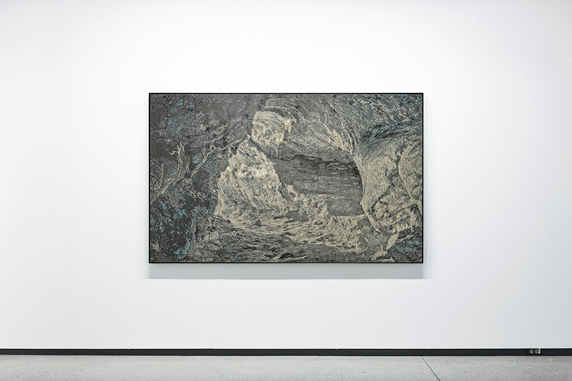 Percée , 2016, Acrylic on canvas, 130 x 208 cm