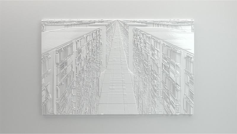 "Forêt , 2016, Edition of 3, High density foam, epoxy, 42 ⅛"" x 68"""