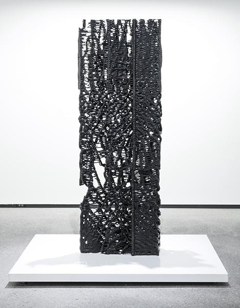 "Monolithe , 2016, Edition of 1, Bronze, patina, 85"" x 28"" x 10"""
