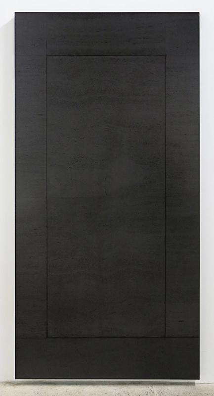 Sas 02 , 2013, Ink jet print, steel, 239 x 122 cm