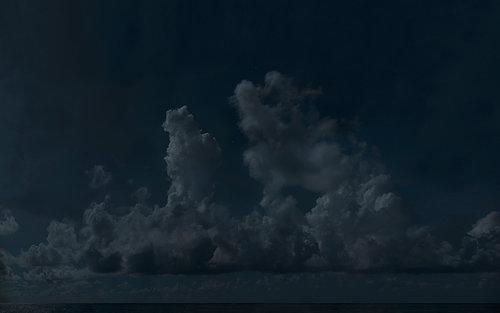 Troposphere , 2013, Ink jet print, steel, 107 x 170 cm