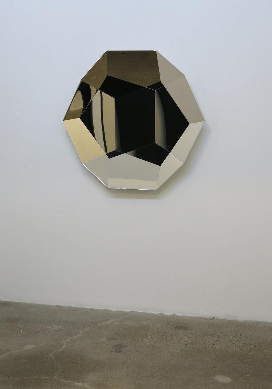 Kaleidoscope , 2013, Steel, nickel, 106 x 106 x 10 cm