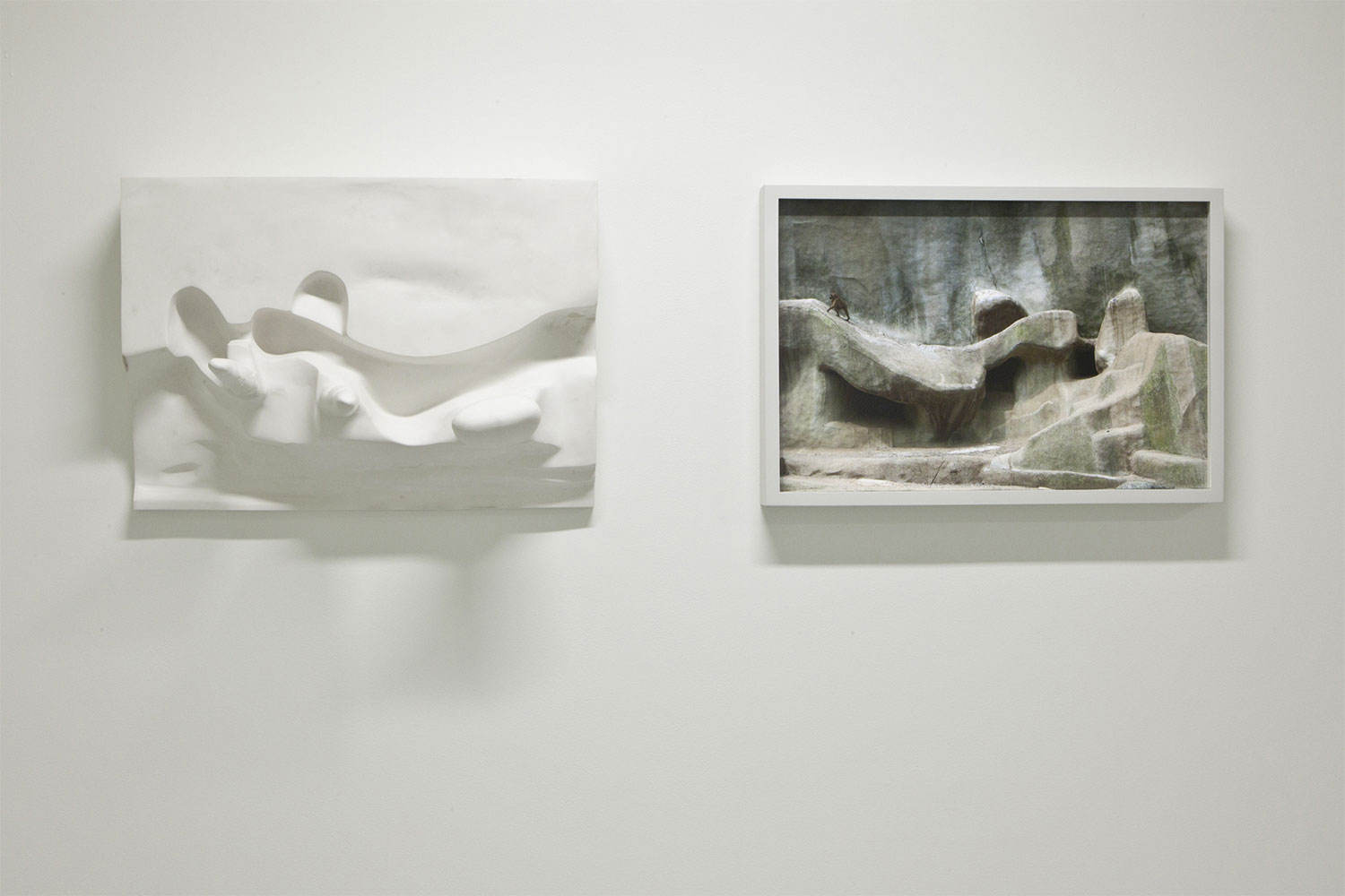 "Relief , 2008-2012, Edition of 2, Inkjet print, Hydrocal plaster, 16 ⅞"" x 48"" x 11 ¾"""