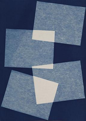 """Élévation , 2015, Cyanotype on arches paper, 30"""" x 22"""""""