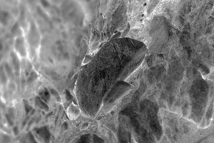 Astéroïde , 2014, Digital photography on satin brushed aluminum, 1016 x 1524 cm