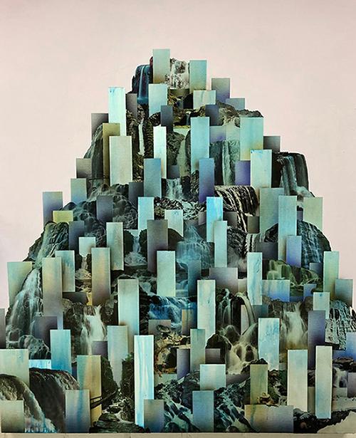 Simon Hughes, Mountain (Falls) (Detail)