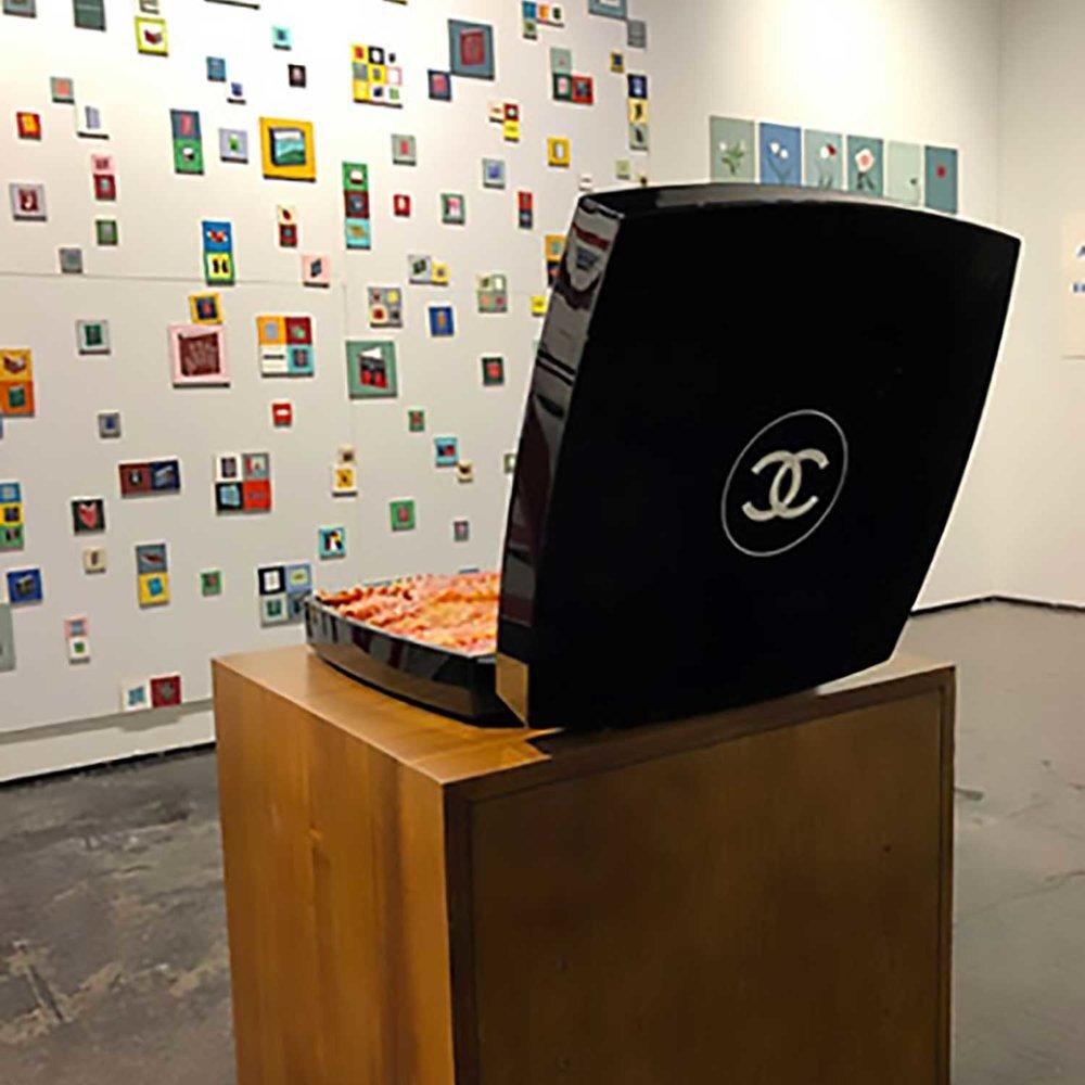 Installation view, NADA 2018, Dumontier & Farber; Chloe Wise, Chanel Lasagna