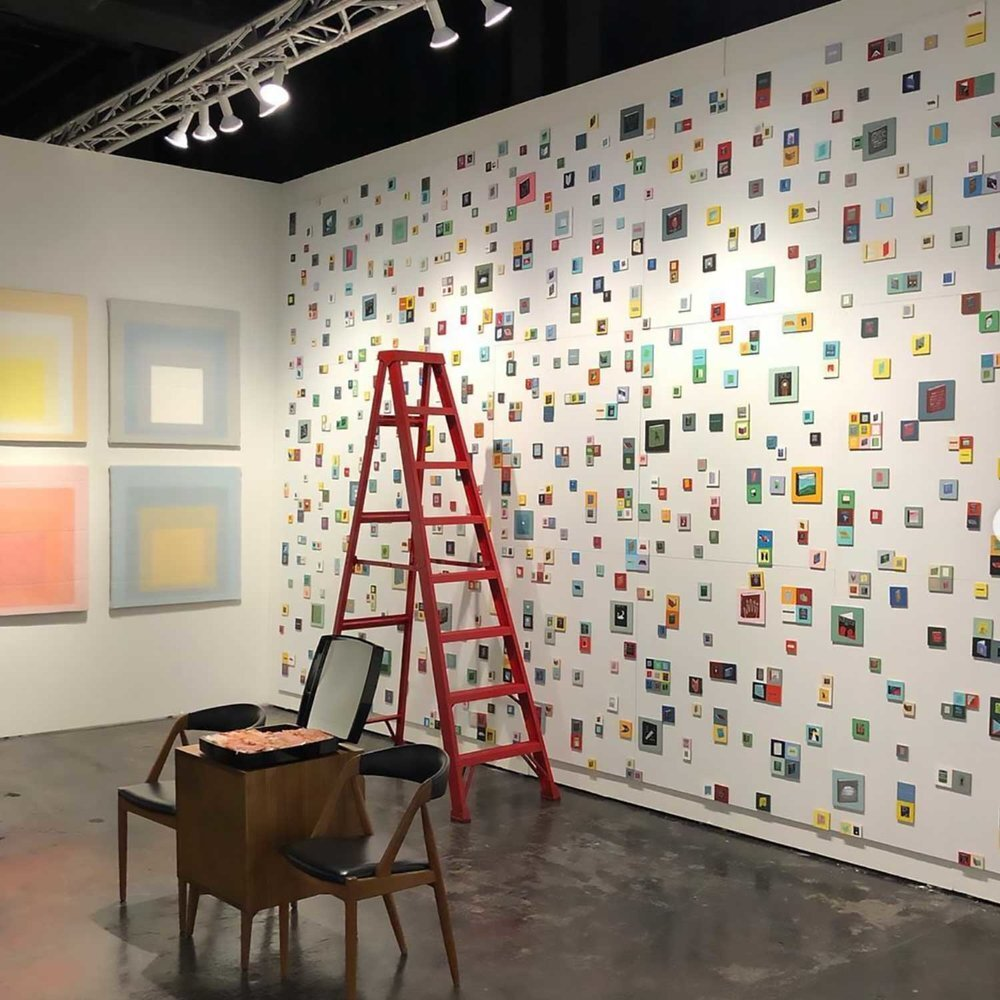 Installation view, NADA 2018, Tammi Campbell, Dumontier & Farber, Chloe Wise