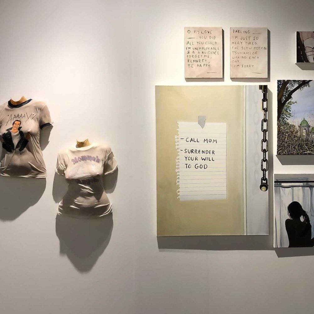 Installation view, NADA 2018, Brad Phillips, Chloe Wise