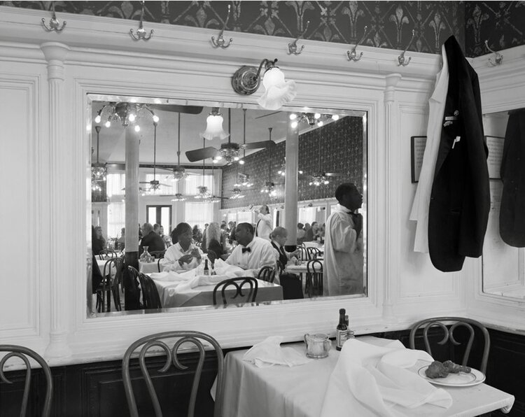Scott McFarland, Staff Meal, Galatoires, Bourbon Street, New Orleans (b&W)