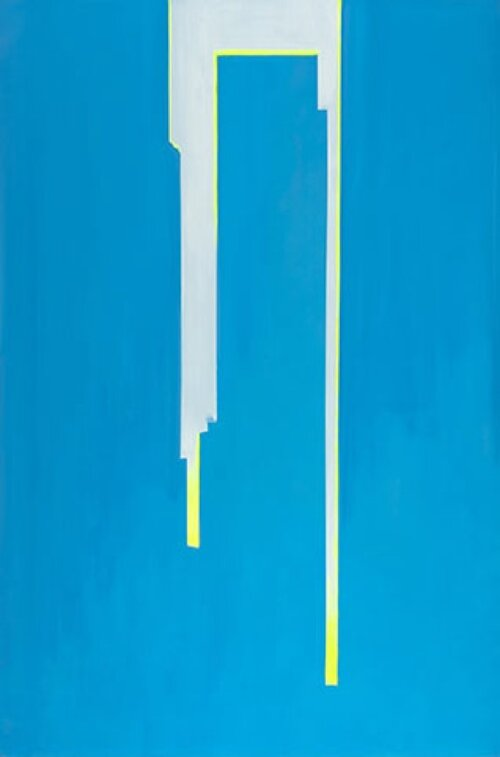 Wanda Koop, In Absentia (Cerulean Blue - Luminous Yellow)