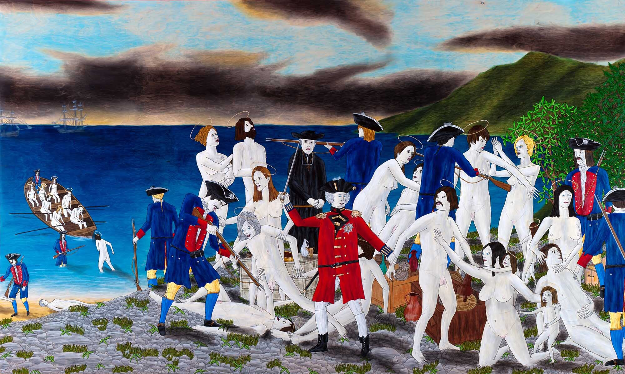 The Acadian Deportation (after Sir Frank Dicksee)