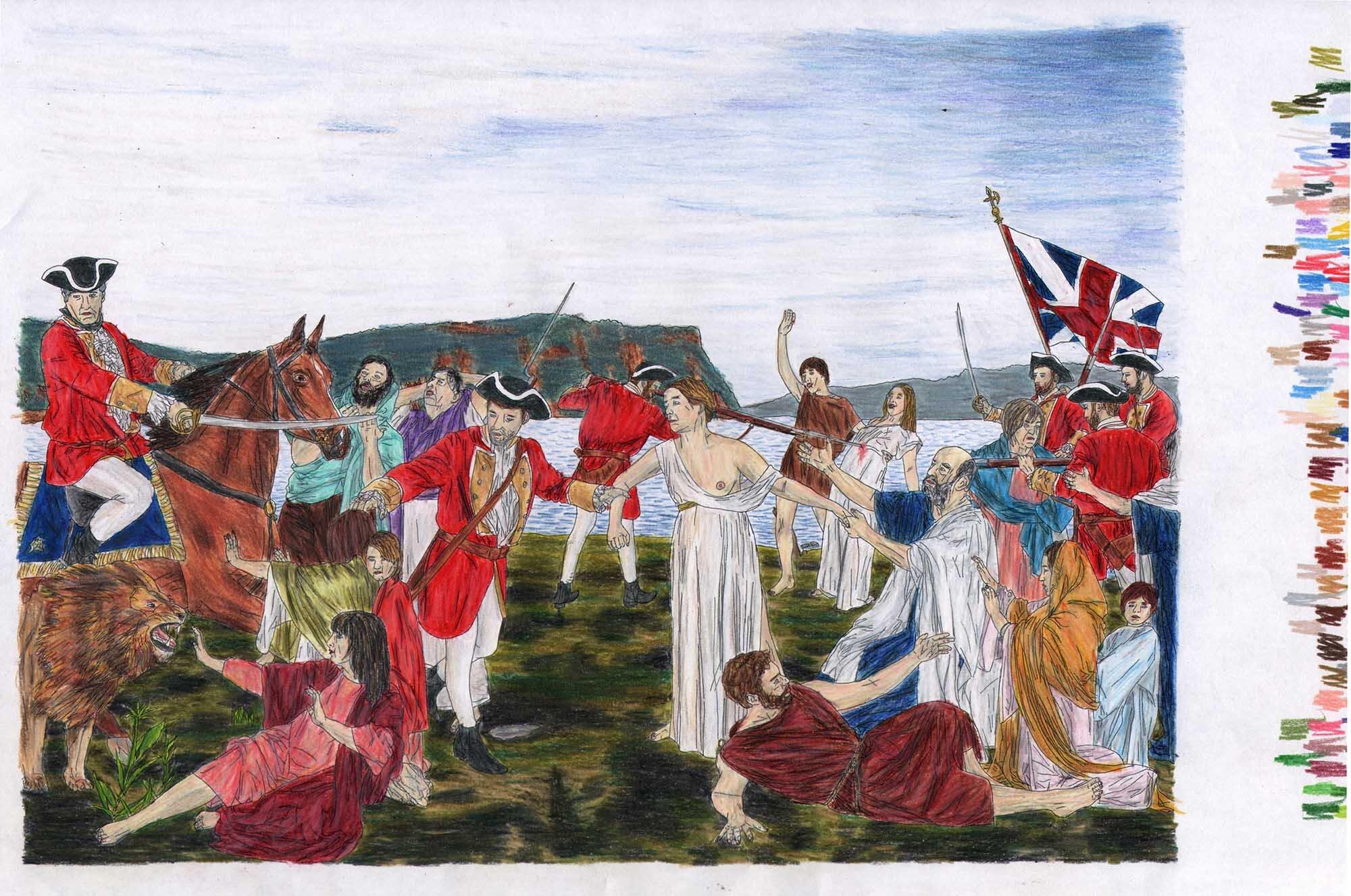 La Dispersion des Acadiens (après Henri Beau)