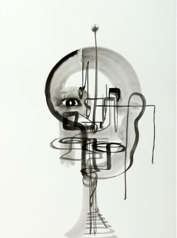 Ink Drawing #6 (Face Time Series)